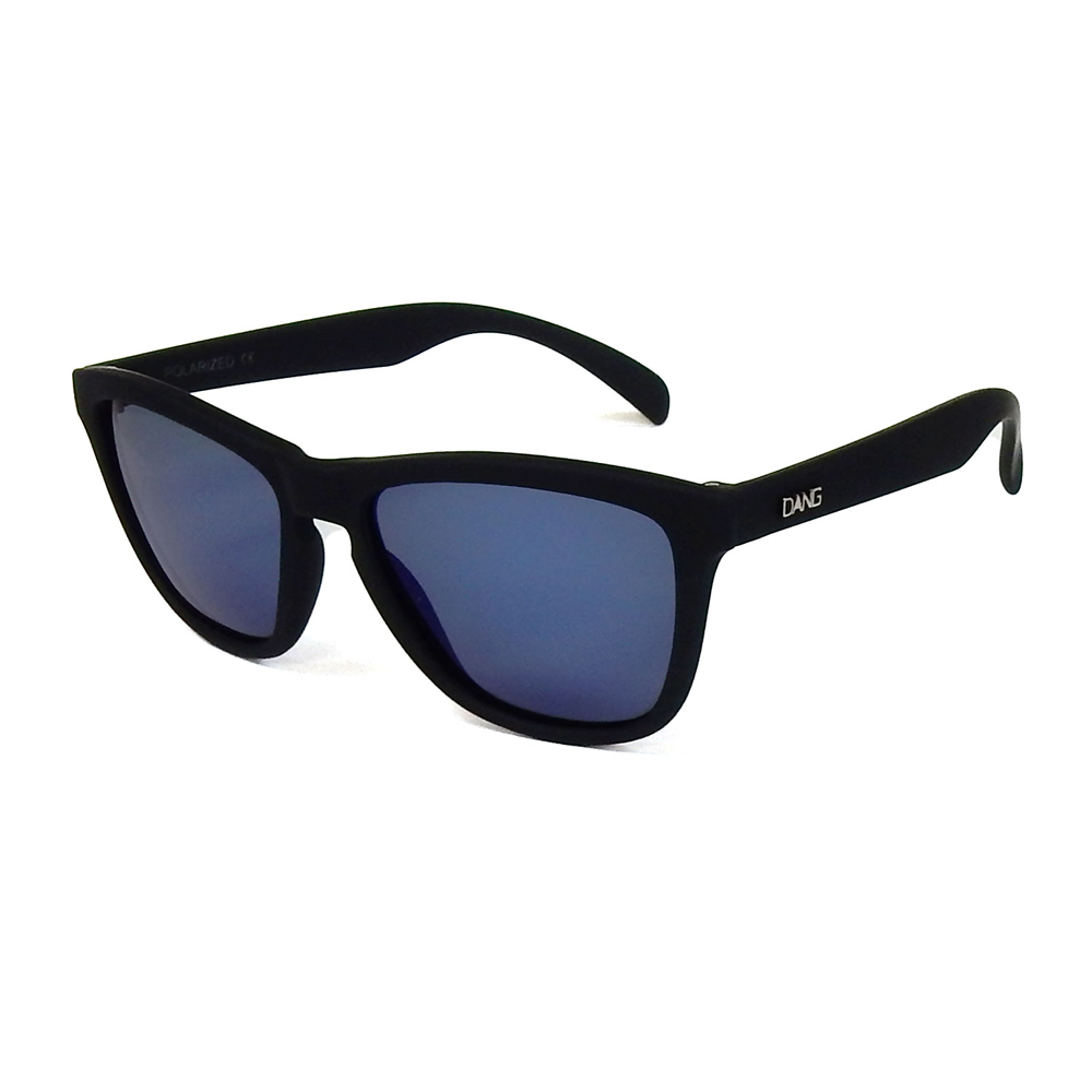 ダン シェイディーズ|ORIGINAL Black Soft x Blue Mirror Polarized with Metal Logo (偏光レンズ)