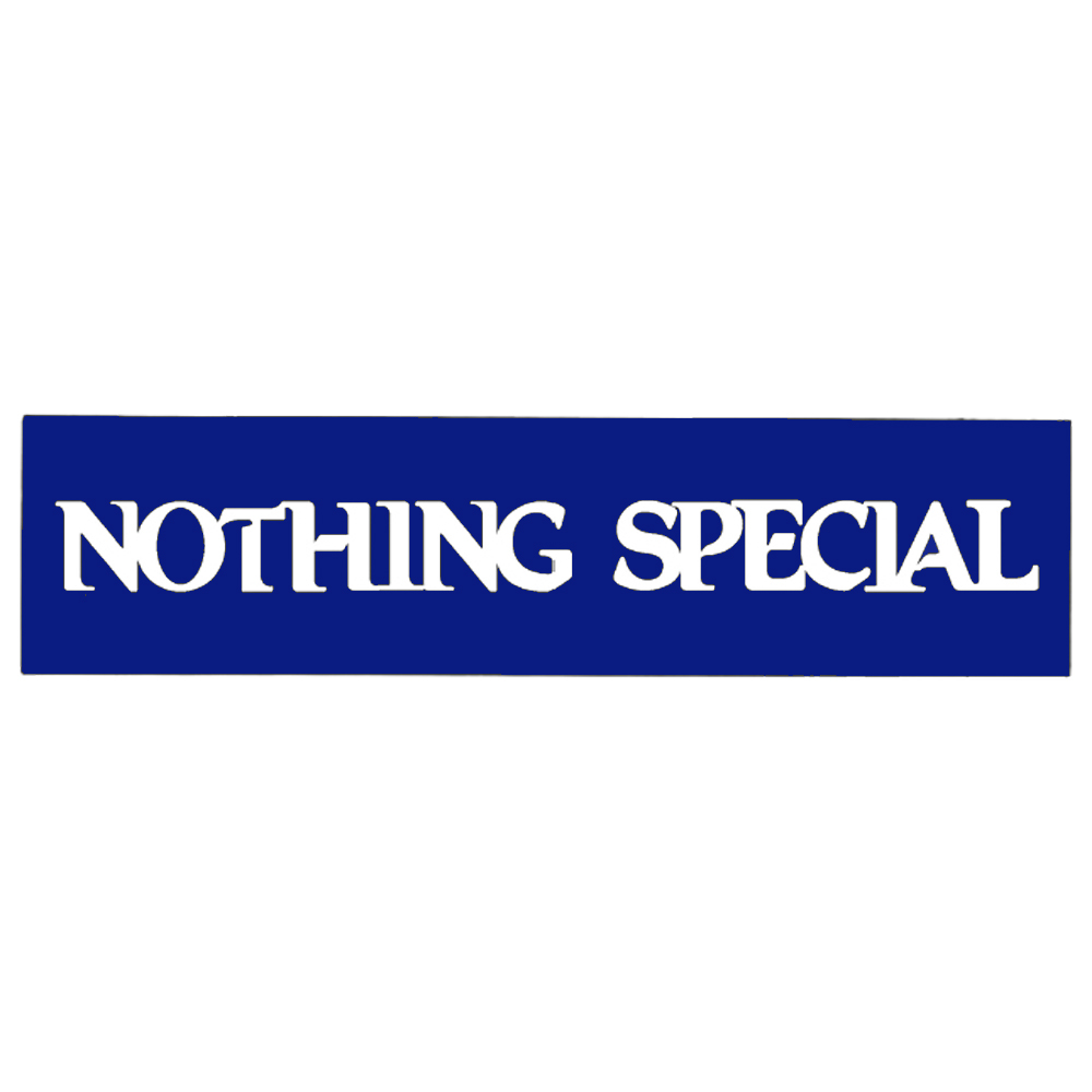 ナッシングスペシャル|NOTHING SPECIAL STICKER ROYALBLUE