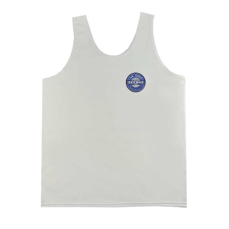 セックスワックス|SEX WAX TANK TOP #41 QUICK HUMPS (Lサイズ) WHITE